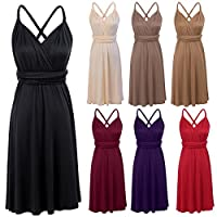 OwlFay Women Summer Short Convertible Wrap Bridesmaid Dresses Evening Cocktail Infinity Gown Formal Wedding Prom Party Dress