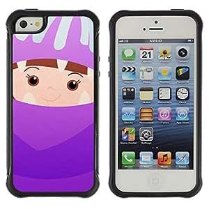 LASTONE PHONE CASE / Suave Silicona Caso Carcasa de Caucho Funda para Apple Iphone 5 / 5S / Cute Kid Mother Parent Children'S