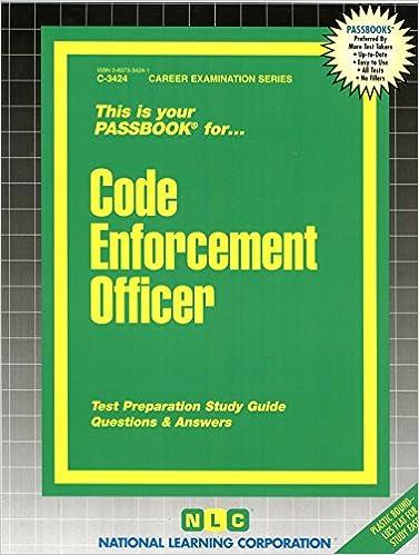 Code enforcement officerpassbooks c 3424 jack rudman code enforcement officerpassbooks c 3424 study guide ed edition fandeluxe Gallery