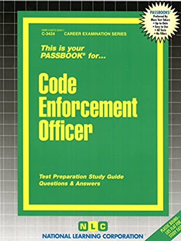 code enforcement officer passbooks c 3424 jack rudman rh amazon com Parking Lot Double Parking