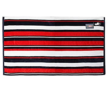 RALPH LAUREN RAYAS Toalla de baño, Toalla Playa Logo Grande Talla XL (35 x 66 pulgadas) - rojo y azul marino, Extra Grande: Amazon.es: Hogar
