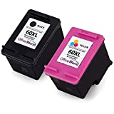 Office World Remanufactured HP 60XL Ink Cartridge (1 Black,1 Tri-Color), CC ....