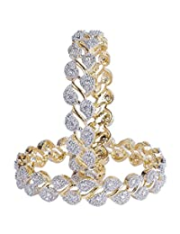 Gorgeous Traditional Bollywood Fashion CZ Stone Indian Bangles For Women