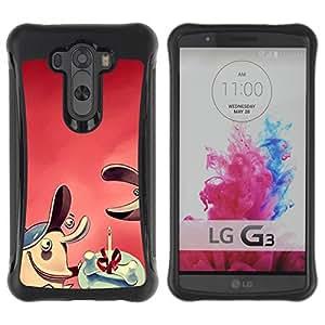 Suave TPU Caso Carcasa de Caucho Funda para LG G3 / Comic Dog Bone Gift / STRONG