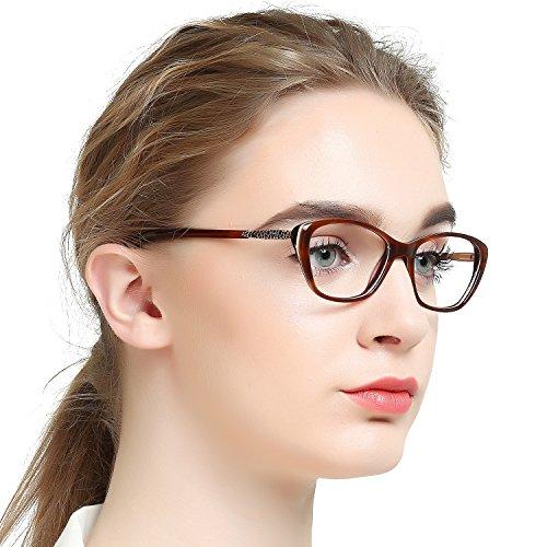 OCCI CHIARI Women Casual Non-Prescription Eyewear Frames Clear Lens Eyeglasses -