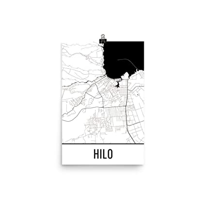 Amazon Com Hilo Print Hilo Art Hilo Map Hilo Hi Hilo Hawaii