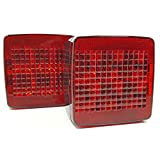 "LED Submersible Trailer Tail Lights, Under 80"" Combo Stop, Turn and Tail Functions with License Plate (Made in the USA)"