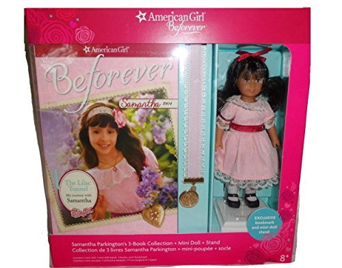 American Girl Beforever Samantha Doll with 3 Books, Mini Doll, Stand and Bookmark