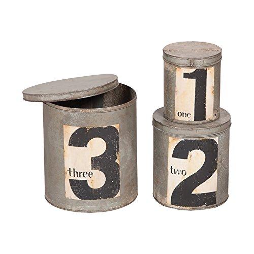 Guild Master Round Metal Nesting Storage Tins - Set of 3