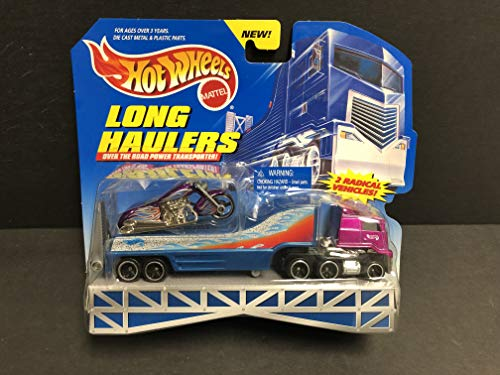 1998 Hot Wheels Long Haulers Transporter with Exclusive Diecast Motorcycle 1/64 Scale