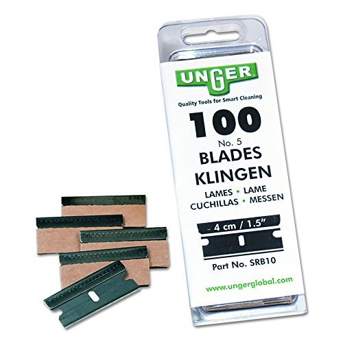 (Unger SRB10 Safety Scraper Replacement Blades, #9, Stainless Steel (Box of 100))