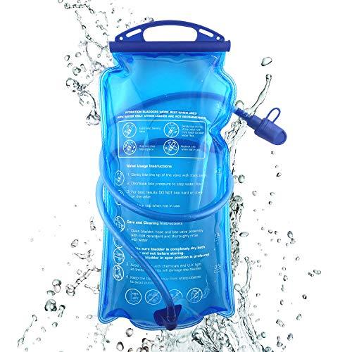 Joyhill Hydration Bladder, 3L Water Bladder BPA Free, 3 Liter Large Opening Water Reservoir, Leak Proof Military Water Storage Bladder Bag for Cycling Hiking Camping Biking Running