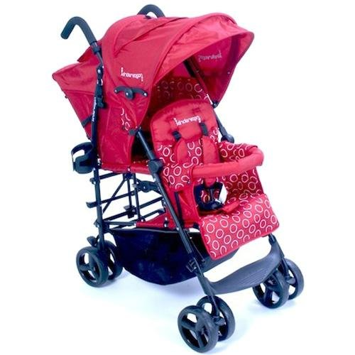 Kinderwagon Hop Tandem Umbrella Stroller Red/Black by Kinderwagon (Image #1)