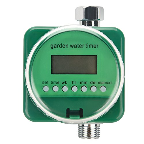 GLOGLOW Garden Water Timer Controller, Drip Irrigation Automatic Watering Timer with Rain Sensor, Anti-water Sealed Indoor/Outdoor