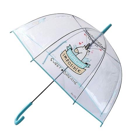Paraguas Transparente Unicorn Land Frase No Hay Nada Imposible Regalo Unicornio Paraguas Unicornio