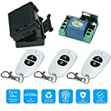 OWSOO 433MHz DC12V 1CH RF Wireless Remote Control Switch + 3PCS RF 433MHz Transmitter Remote Controls For Household Appliances Electronic Lock Control System