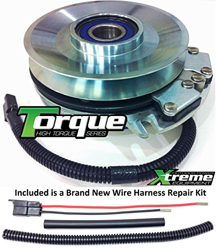 Xtreme Outdoor Power Equipment Bundle - 2 Items: PTO Electric Blade Clutch, Wire Harness Repair Kit. X0222 Replaces Warner 5218-154 Hustler PTO Clutch - w/Wire Harness Repair Kit !