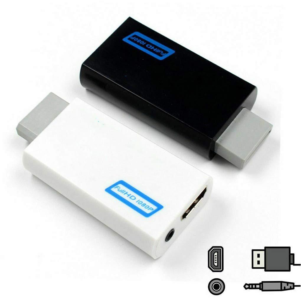 Lorsoul Adaptador convertidor HD 1080P con 3 5 mm de Salida de Audio para Wii 2 al convertidor de HD port/átil