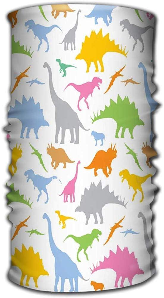 Copricapo in microfibra a rapida asciugatura Bandana magica come scaldacollo a fascia avvolgere la fascia sciarpa sciarpa maschera ultra morbida elastica senza cuciture dinosauro divertimento