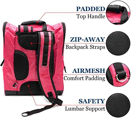 Zion Sports Ski Boot Bag – Durable Winter Sports Storage for Snowboard or Ski Boots, Goggles, Helmets, Gloves, and Accessories