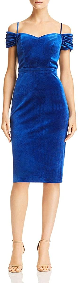 Laundry by Shelli Segal Women's Velvet Off The Shoulder Cocktail Dress