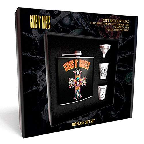 Guns N Roses - Cross (Hip Flask. 2 Cups & Funnel) ( Mugs )