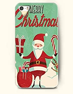 OOFIT Phone Case design with Santa Claus Holds Candy Cane and a Gift - Merry Christmas for Apple iPhone 4 4s 4g wangjiang maoyi