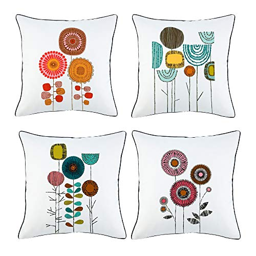 Set of 4 Onice Sivaha Idyllic Life Flower Throw Pillow Cases Only $13.99
