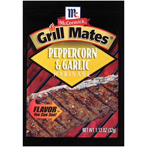 McCormick Grill Mates Peppercorn & Garlic Marinade Mix, 1.13 oz (Pack of 12)