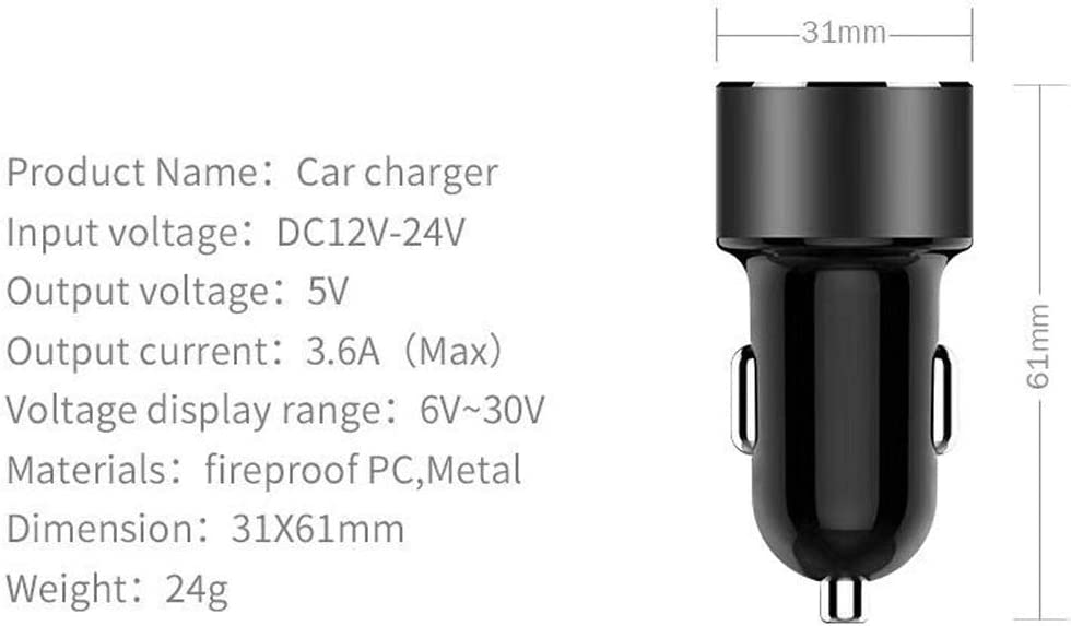 Dual Car Charger Adapter USB Fast Charge High Speed Samsung Galaxy S8 Plus S9 S7 Edge Note 9 8 6 2 Port USB Car Charger Flush Fit for iPhone 7 Plus 8 X 6S Google Pixel 2XL One Plus 6 5T 3T Android
