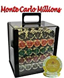 1000pcs 14g Monte Carlo Millions Poker Chips Set with Acrylic Case Custom Build