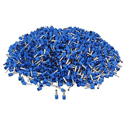 1000Pcs Non Insulated Solderless Terminal Repair Lug Kit for Model for Model E6012 Blue