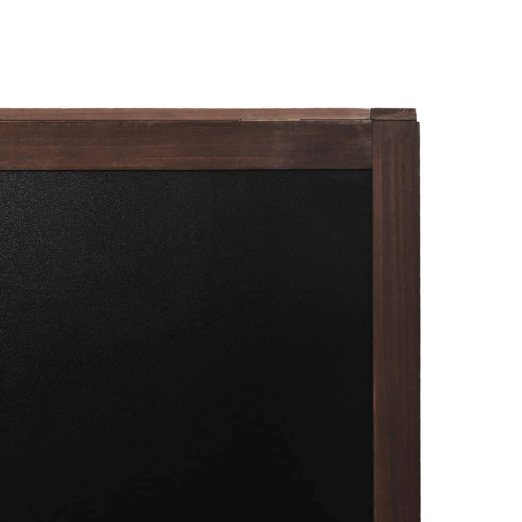 tidyard Pizarra de Pie de Doble Cara de Suave y F/ácil de Limpiar Madera de Cedro 40x60 cm