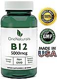 OneNaturals Vitamin B12 Methylcobalamin (5000 mcg) Supplement – 60 Tablets – 83,333% Daily Value