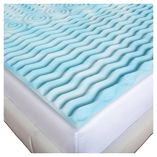 Gilbin Memory Foam Mattress Topper Cot Or Twin Size Fits Camp Cots perfect for kid's sleepaway camp and also fits RV beds by Gilbin (Image #3)