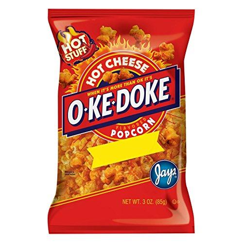 Hot Cheese Popcorn - O-Ke-Doke Hot Cheese Flavored Popcorn 3oz, pack of 1