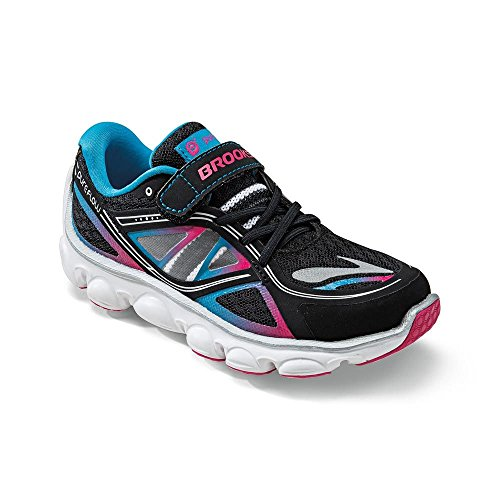 BROOKS KidsPureFlow 3 Junior Running Shoes, Black/Blue, J11