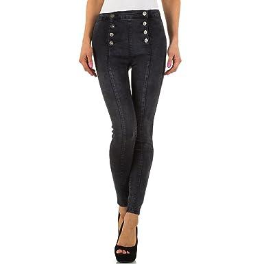 7d53ff020e3c Schuhcity24 Damen Jeans Hose Jeanshose Damenjeans Used Look High Waist  Hoher Bund Skinny Röhre Röhrenjeans Bluejeans  Amazon.de  Bekleidung