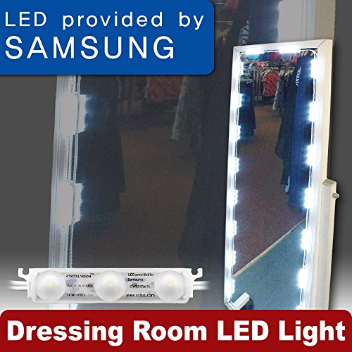Crystal Vision Premium Samsung Pre-Installed LED Kit for Dressing Room, Fitting Room, Closet, Door - Full Length Mirror (With Motion Sensor)