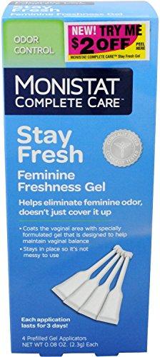 MONISTAT Complete Care Stay Fresh Feminine Freshness Gel Applicators, 4 ea (Pack of 5)
