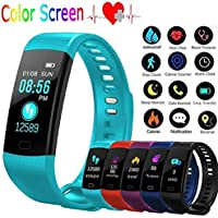 Zippem Unisex Casual Multifunctional Square Shape Waterproof Bluetooth Smart Wristband Watch