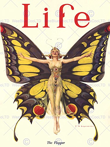 Bumblebeaver Magazine 1922 Life Butterfly Dancer FINE Art Print Poster CC372 -