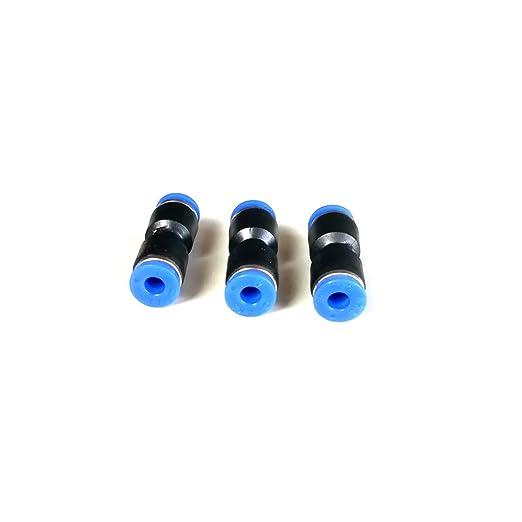 4mm MagiDeal 3 Pezzi Raccordo Pneumatico Innesto Dritto Connettore Tubo Nylon Polietilene