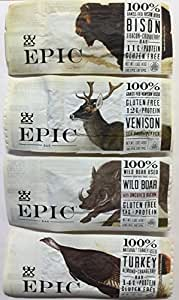 Epic - Epic Bar Sample Pack (4 Bars Total) Bison, Venison, Wild Boar, Turkey.