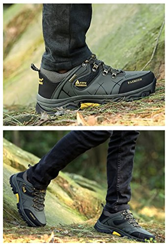 Green Shoes Leather Rubber Anti Waterproof and Hiking Synthetic BERTERI Slip Sole naqOvxSw5