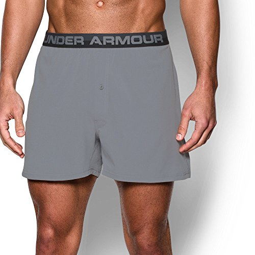 (Under Armour Men's ArmourVent Series Boxer Shorts, Steel /Steel,)