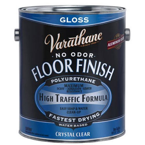 Gloss Hardwood Floors - RUST-OLEUM 230031 Varathane Gallon Gloss Waterborne Diamond Floor Finish