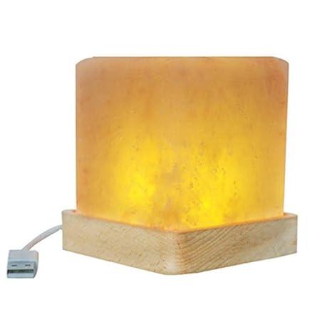 Lámpara Cristal Sal Del HimalayaBase De BeWdQrCox
