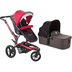 Jane Trider Extreme Stroller with Micro Bassinet - Deep Red