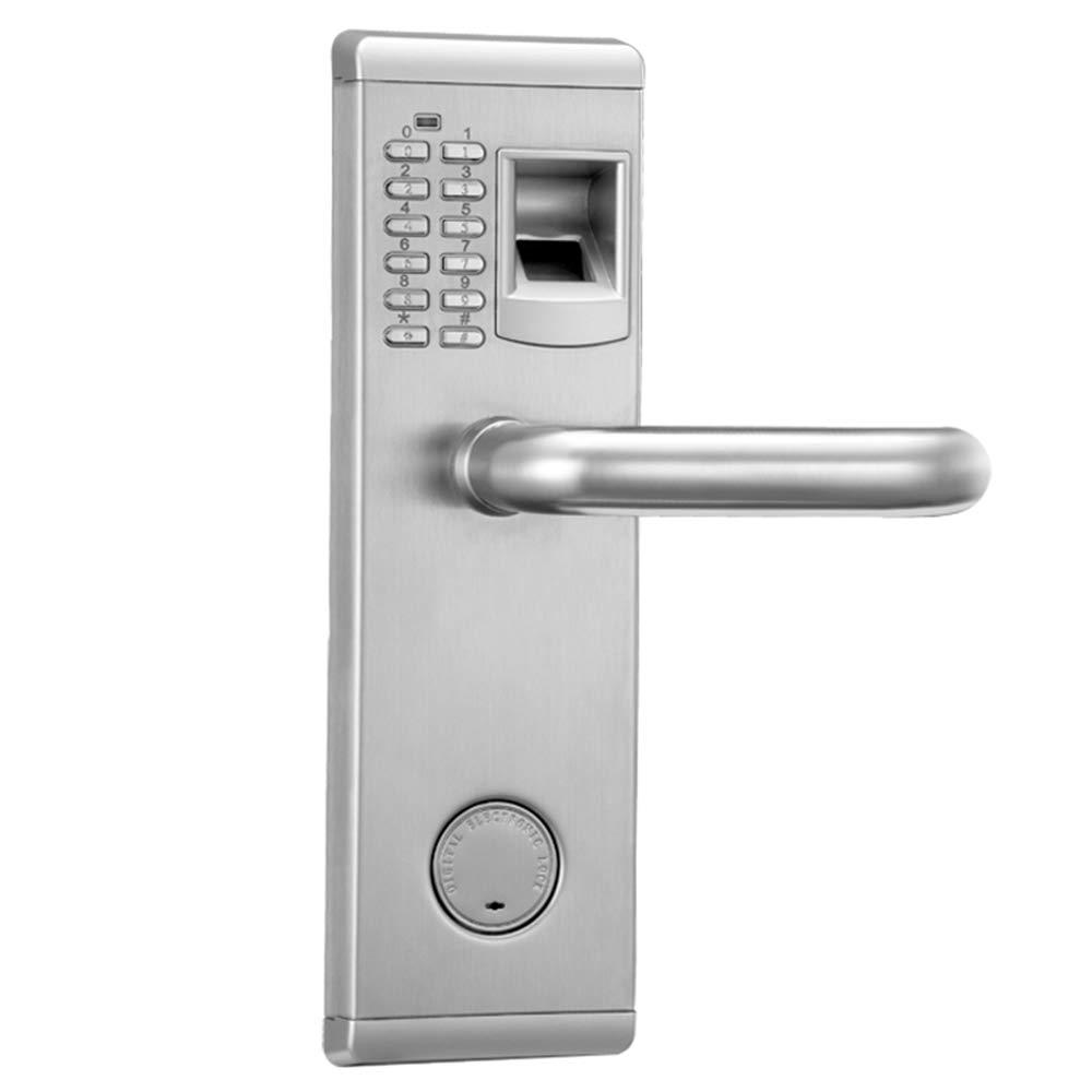 Blusea Smart Lever Door Lock, 3 in 1 Fingerprint and Keyboard Keyless Electric Door Lock Fingerprint Code Unlock for Home Office Use Left Inswing by Blusea